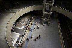 Se Subway Station in Sao Paulo city, Brazil. Sao Paulo, Brazil - October 5, 2017: Se Subway Station, is the central and busiest station in the Sao Paulo city Stock Photos