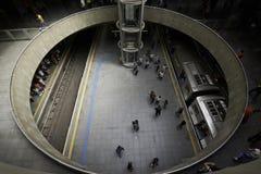 Se Subway Station in Sao Paulo city, Brazil. Sao Paulo, Brazil - October 5, 2017: Se Subway Station, is the central and busiest station in the Sao Paulo city Stock Image