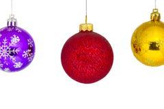Se suspende el ` s del Año Nuevo o las bolas de la Navidad Foto de archivo libre de regalías