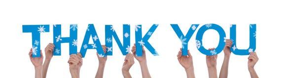 Se tenir de mains vous remercient Image libre de droits