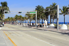 SE 5th St at SR A1A Stock Photography