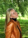 se till den övre kvinnan Royaltyfria Bilder