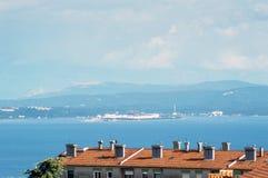 Se till den Krk ön från min balkong Royaltyfri Foto