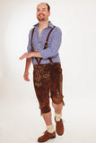 Se um homem bávaro dança Fotos de Stock