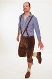 Se um homem bávaro dança Foto de Stock Royalty Free