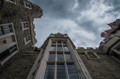 Se upp en slottvägg Fotografering för Bildbyråer