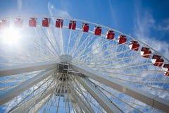 Se upp på en Ferris Wheel Arkivfoton