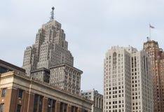 I stadens centrum byggnader Royaltyfria Foton