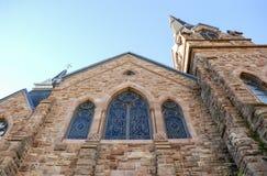 Se upp på kyrkan Fotografering för Bildbyråer
