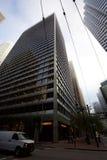 Se upp på skyskraporna i San Francisco fotografering för bildbyråer