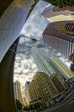 Se upp på staden Arkivbild