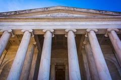 Se upp på Thomas Jefferson Memorial, i Washington, DC Arkivbilder