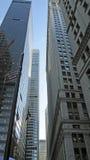 se upp skyskrapor Arkivfoton