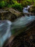 Se upp till Brandy Creek Falls royaltyfri fotografi