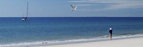 Se ut till havet Frazer Island - nordvästlig kust Arkivfoton