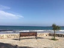 Se ut till havet i Mallorca royaltyfri foto
