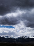 Se västra från Westcliffe, Colorado Arkivfoton