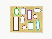 Se vad du kan se med dessa formade speglar stock illustrationer