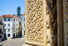 Se Velha, old Cathedral of Coimbra. Portugal. Royalty Free Stock Images