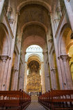 Se Velha old Cathedral of Coimbra. Portugal. Royalty Free Stock Photos