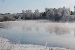 Se viene el invierno Foto de archivo libre de regalías