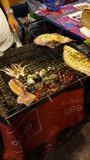 Sea​ food​ on​ street​ Chiang​mai​ thailand​ royalty free stock photography