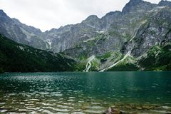 Sea湖的眼睛在Tatra 免版税库存图片
