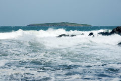 Sea ​​and island 16. Surf on the coast of the Black Sea in Bulgaria in the spring Stock Images