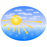 Sea ​​and sun vector Royalty Free Stock Photos
