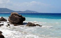 Sea coast of Rhodes Stock Photo