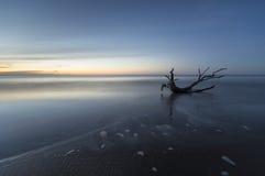 Sea landscape. Poland,sunset over the beach ,Baltic sea Stock Photo