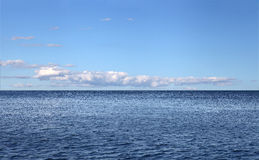 Sea ​​landscape with sky and clouds Stock Images