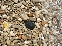 Sea pebbles under water Stock Image