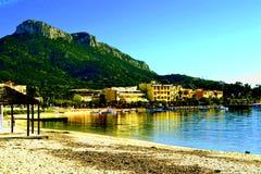 Sea of Sardinia. City of Sardinia overlooking the sea Royalty Free Stock Photos