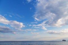 Sea sky rainbow Royalty Free Stock Images