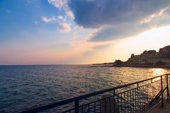 Sea sky sunset sunrise Royalty Free Stock Photos