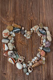 Sea stones in a heart shape Stock Images