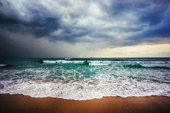 Sea storm. Mediterranean Sea storm in Israel Royalty Free Stock Photo