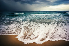 Sea storm. Mediterranean Sea storm in Israel Stock Photos