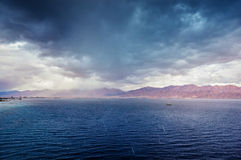 Sea storm. Red Sea storm in Israel Royalty Free Stock Image