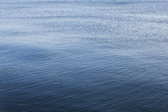 Sea surface. Ripples breaking the stillness of water surface royalty free stock photo