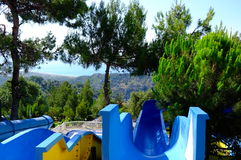 Sea ��view from the water slides Royalty Free Stock Photos