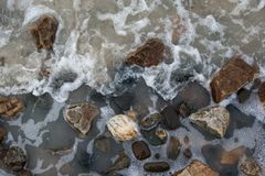 Stones in the water royalty free stock photos