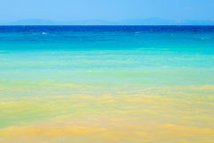 Sea water changes color with the distance. From the coast Stock Image