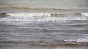 Sea wave foam froth liquid, shore powerful seascape coastal beauty. Sea wave foam motion liquid beauty seascape  powerful shore stock video footage