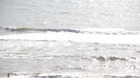Sea wave foam froth liquid, seascape coastal beauty. Sea wave foam motion liquid beauty seascape coastal stock video footage