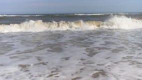 Sea wave foam froth foam liquid, storm shore powerful seascape coastal beauty. Sea wave foam motion liquid beauty seascape  powerful shore storm foam stock video