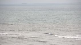 Sea wave foam froth liquid, seascape beauty. Sea wave foam motion liquid beauty seascape stock video