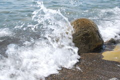 Sea waves rocks. Sea waves rocks boulder with steep slopes and sharp ridges output stone rocks with steep or steep slopes and generally royalty free stock photography