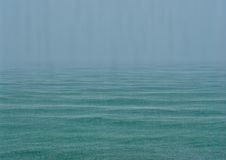 Sea ​​in the rain Royalty Free Stock Photos